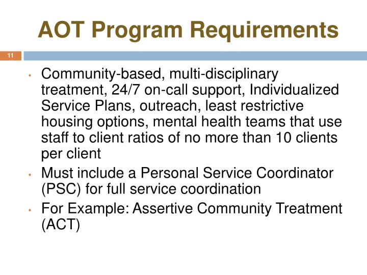 AOT Program Requirements