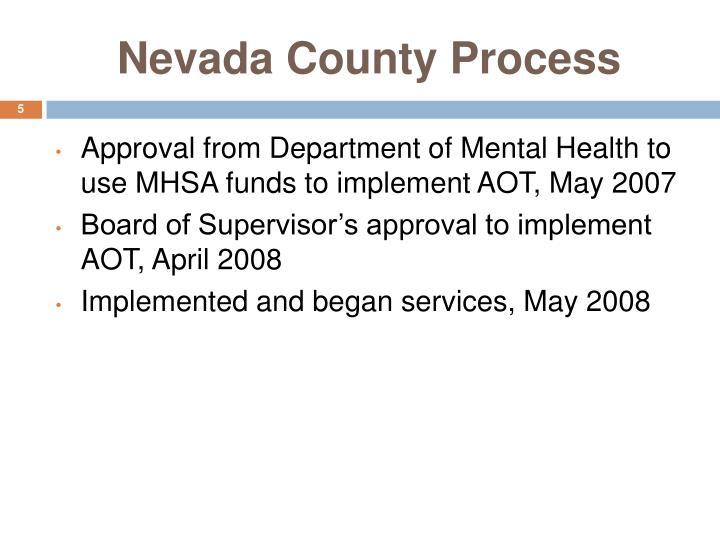 Nevada County Process