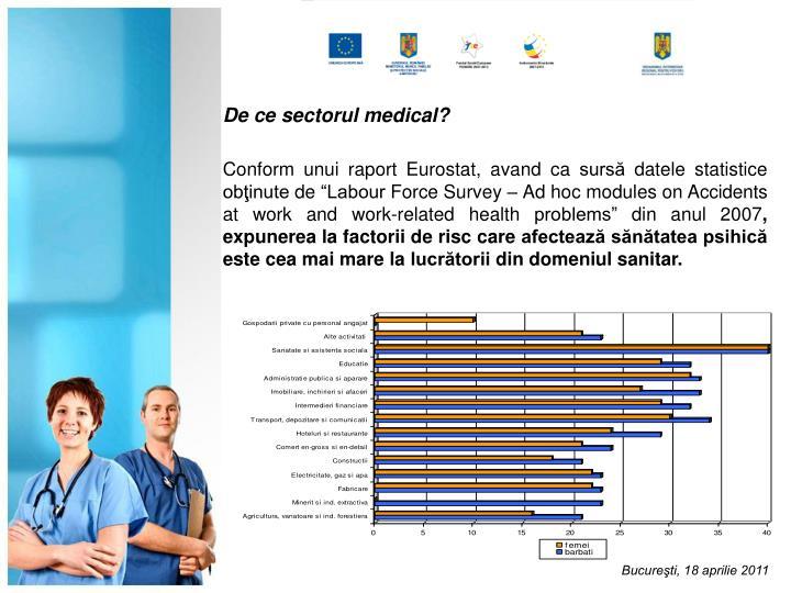 De ce sectorul medical?