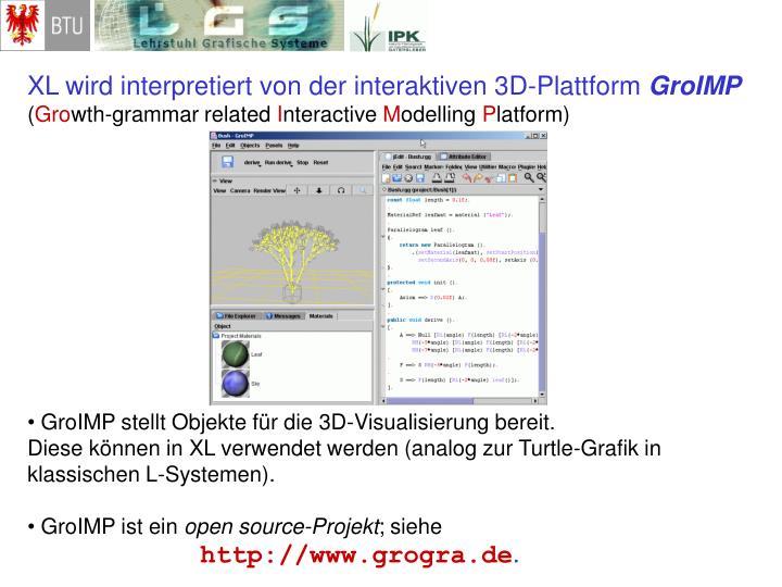 XL wird interpretiert von der interaktiven 3D-Plattform