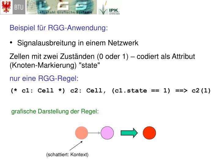 Beispiel für RGG-Anwendung: