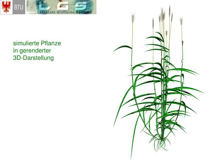 simulierte Pflanze