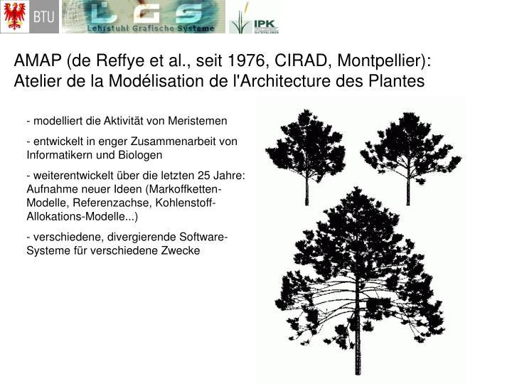 AMAP (de Reffye et al., seit 1976, CIRAD, Montpellier):
