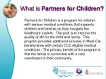 what is partners for children