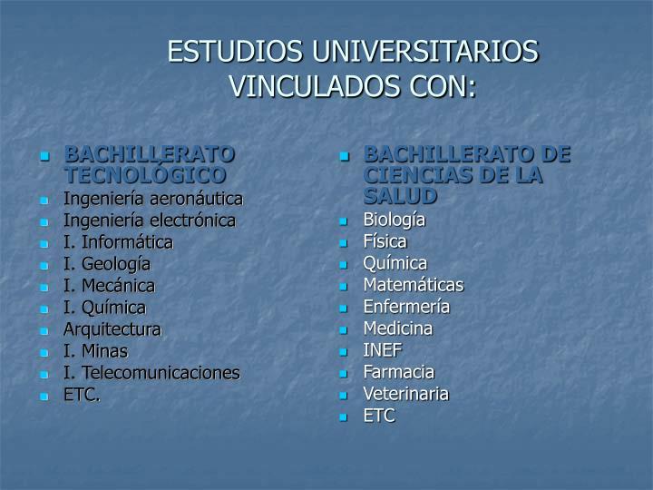 BACHILLERATO TECNOLÓGICO