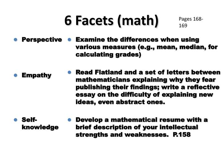 6 Facets (math)