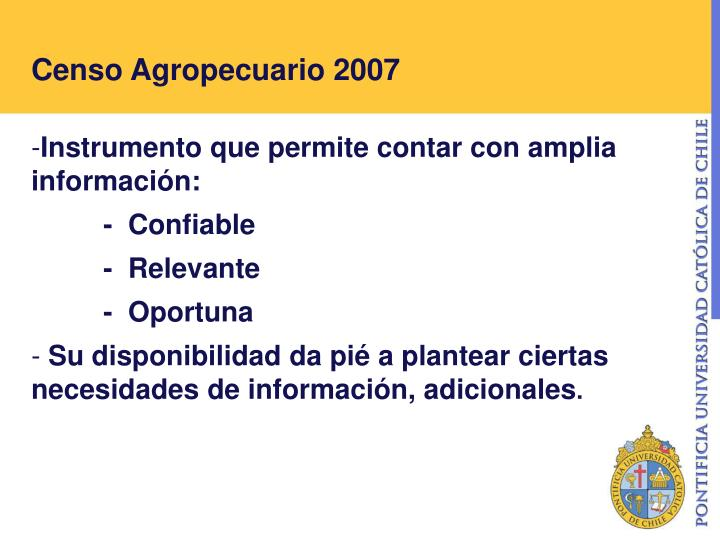 Censo agropecuario 2007
