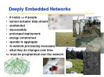 deeply embedded networks