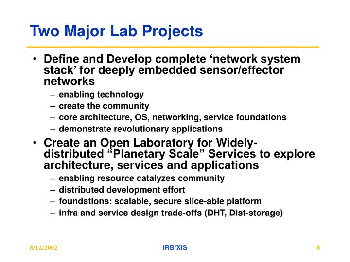 Two Major Lab Projects