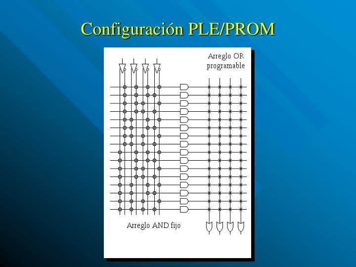 Configuración PLE/PROM