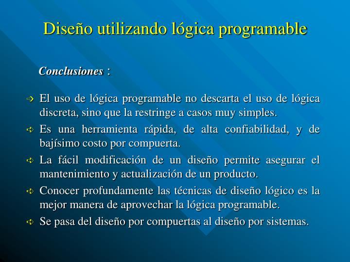 Diseño utilizando lógica programable