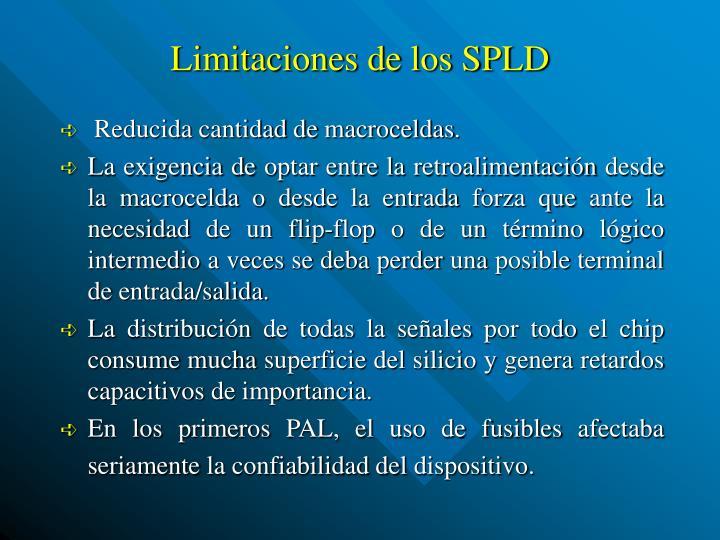 Limitaciones de los SPLD
