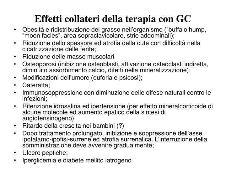 Effetti collateri della terapia con GC