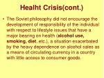 healht crisis cont