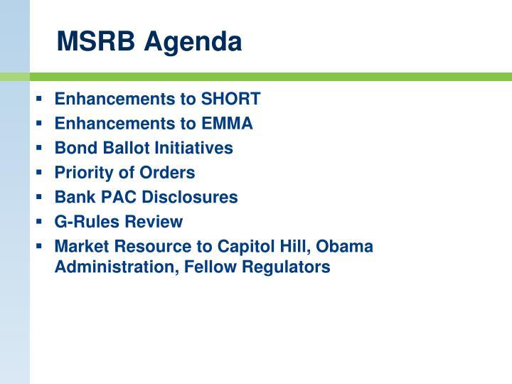 MSRB Agenda