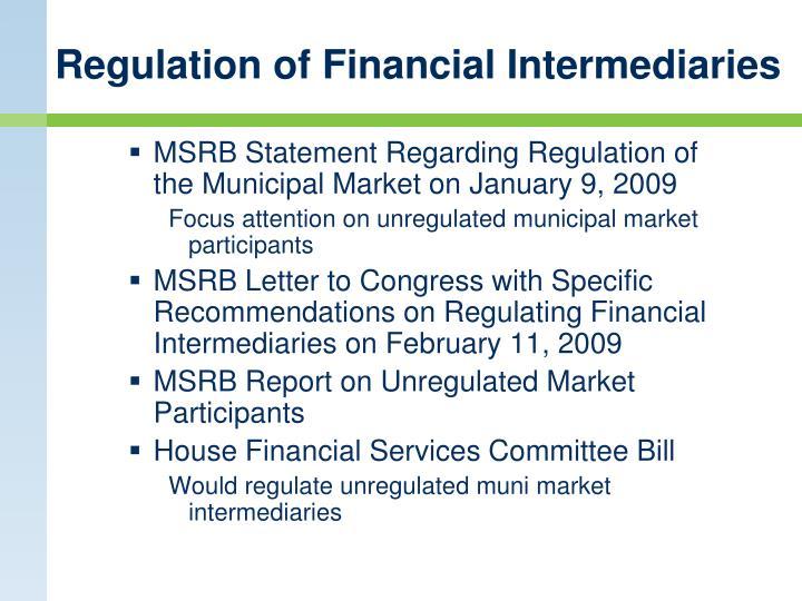 Regulation of Financial Intermediaries