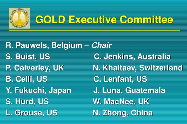 Gold executive committee
