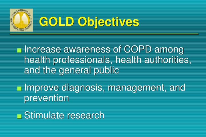GOLD Objectives