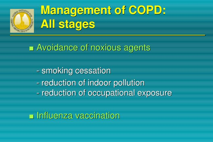Management of COPD: