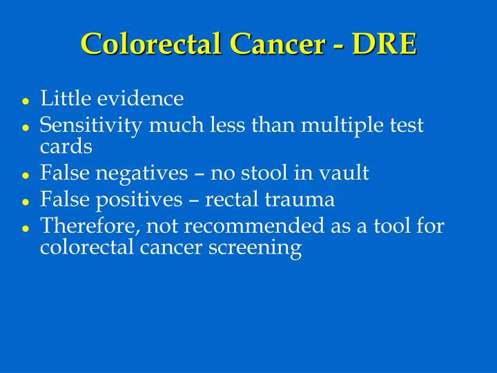 Colorectal Cancer - DRE