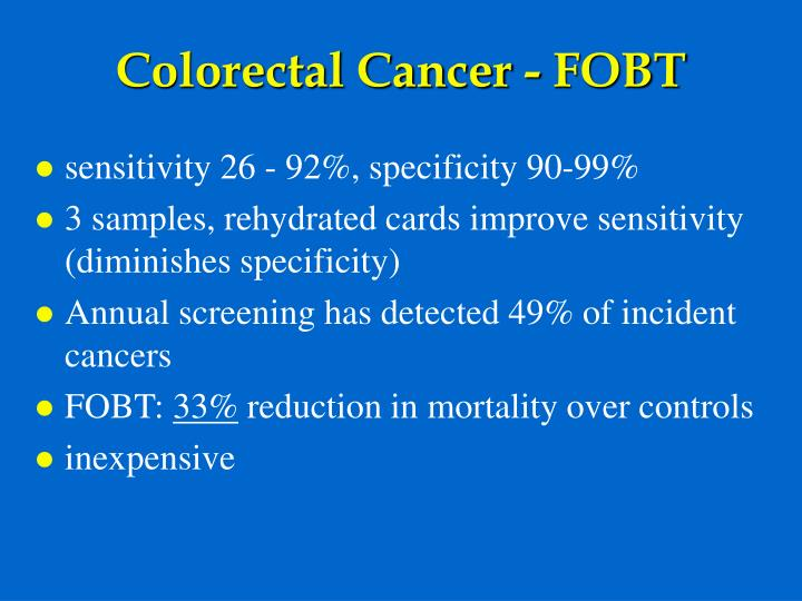 Colorectal Cancer - FOBT