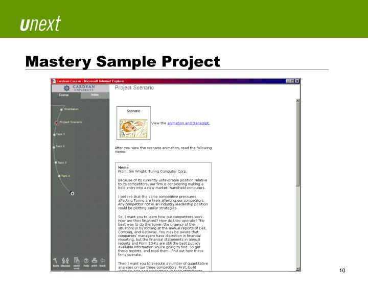 Mastery Sample Project