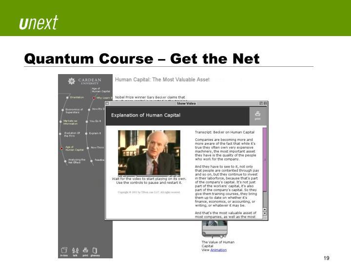 Quantum Course – Get the Net