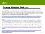 sample mastery task con t1