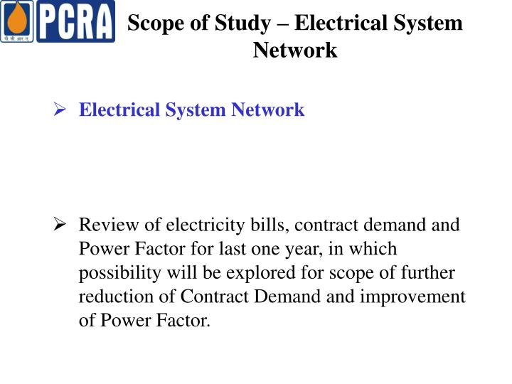 Scope of Study – Electrical System Network