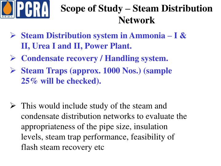 Scope of Study – Steam Distribution Network