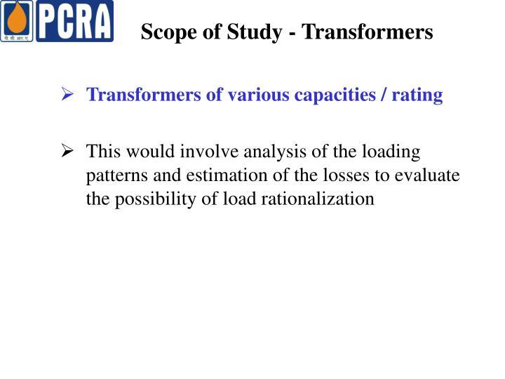 Scope of Study - Transformers