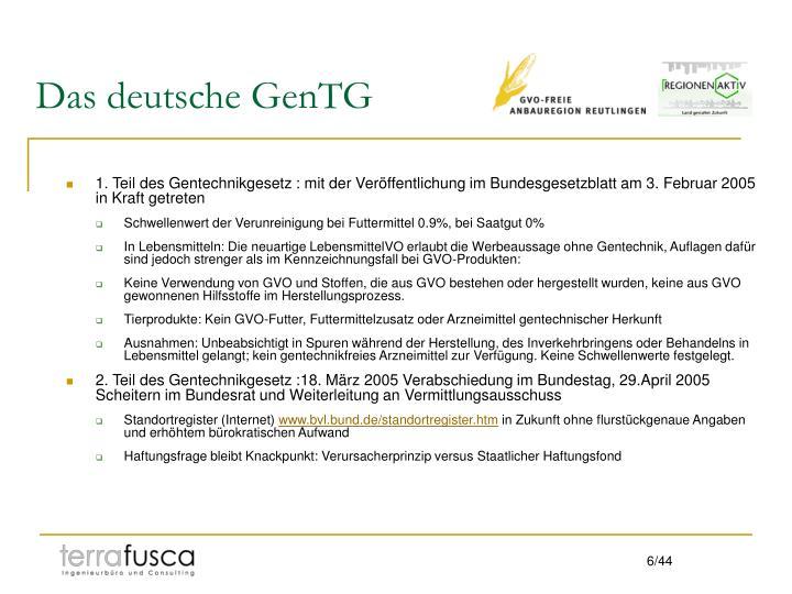 Das deutsche GenTG