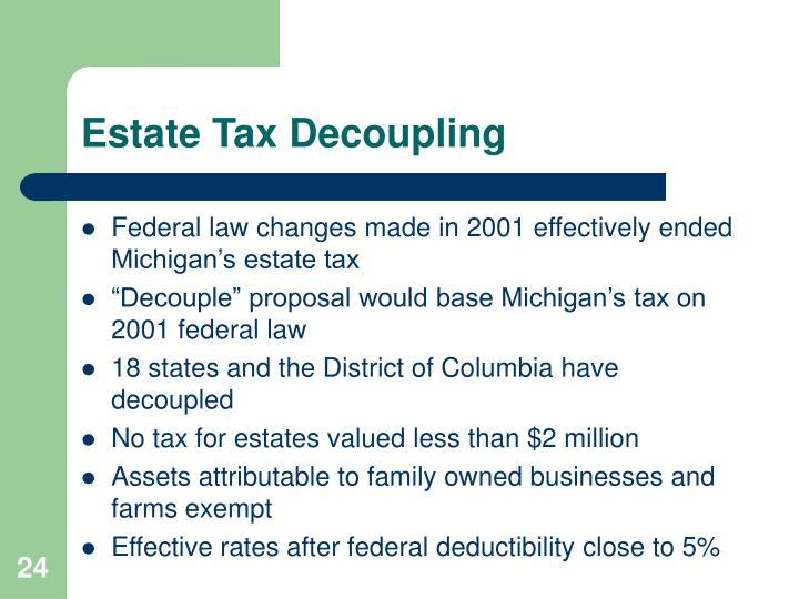 Estate Tax Decoupling