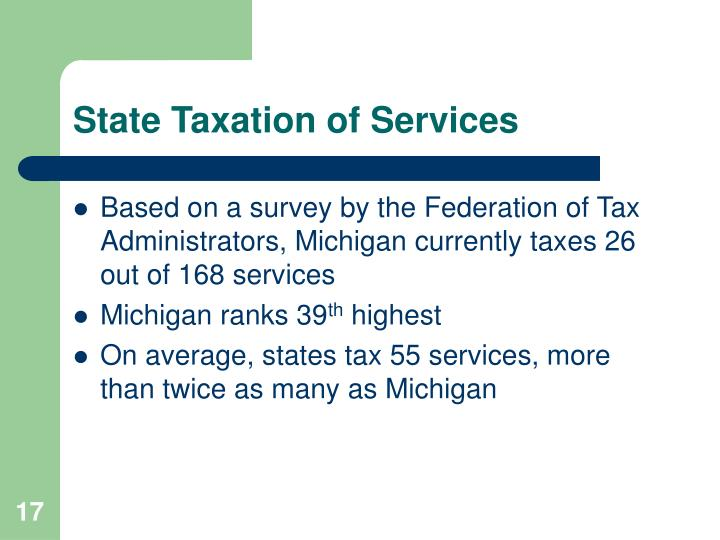 State Taxation of Services
