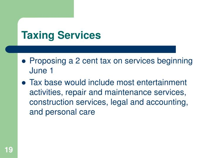 Taxing Services