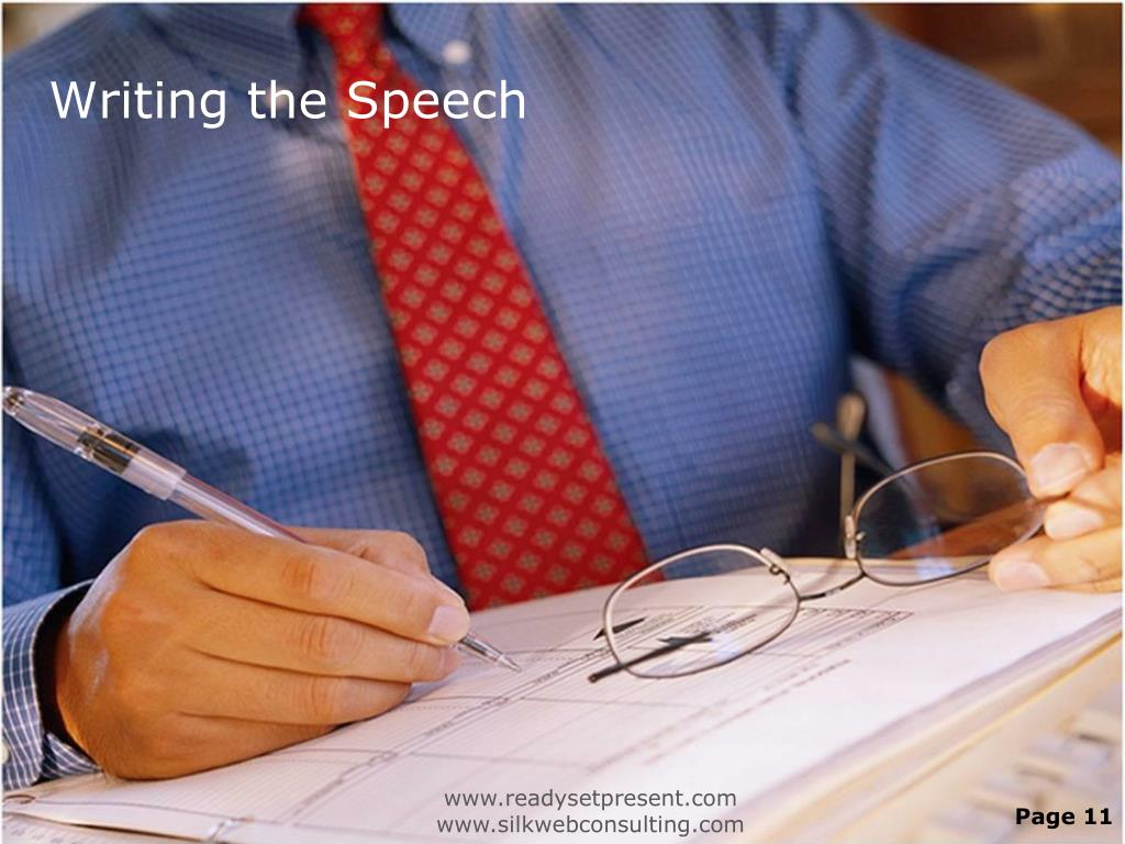 Writing the Speech