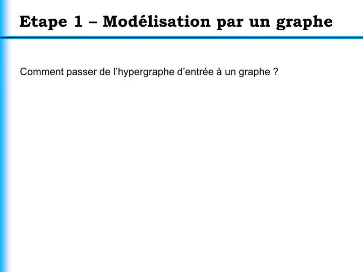 Etape 1 – Modélisation par un graphe
