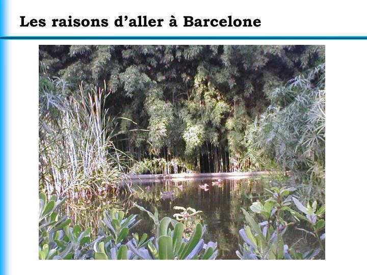 Les raisons d'aller à Barcelone