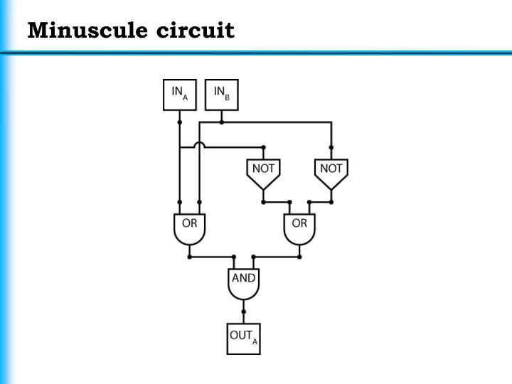 Minuscule circuit