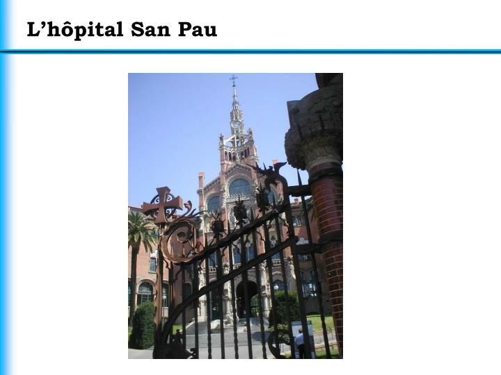 L'hôpital San Pau