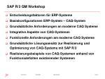 sap r 3 qm workshop