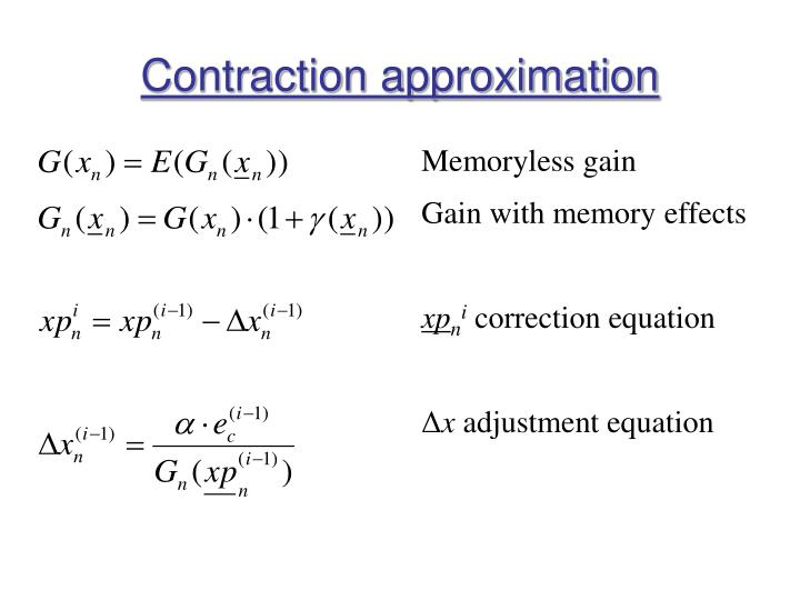 Contraction approximation