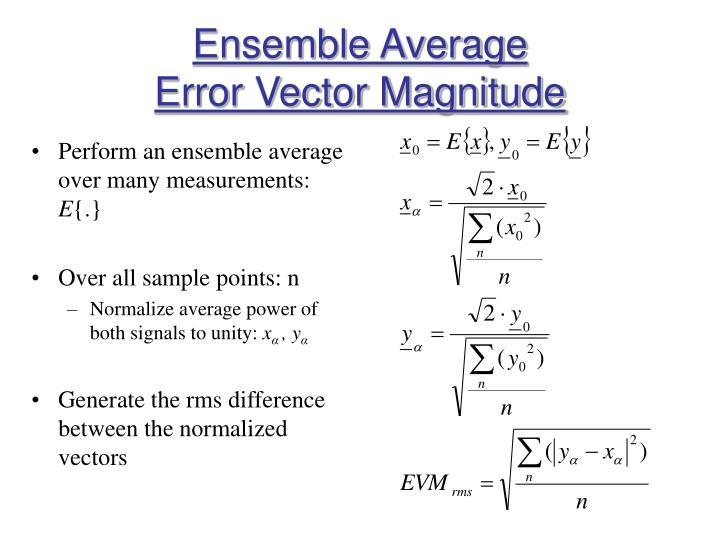 Ensemble Average