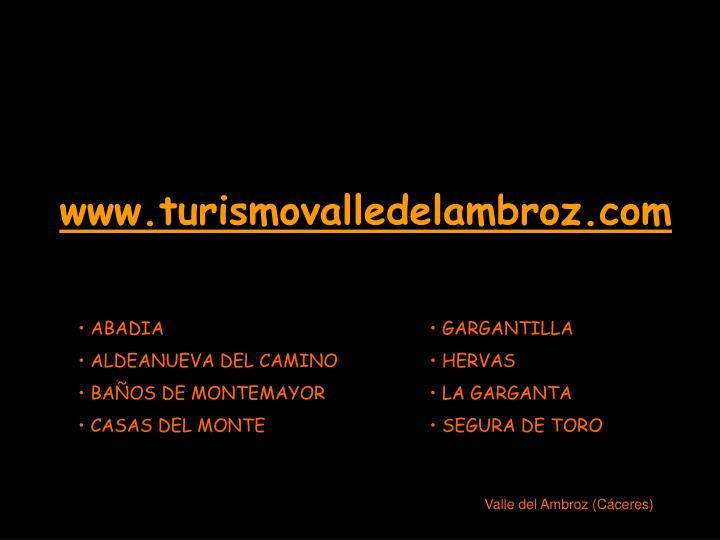 www.turismovalledelambroz.com