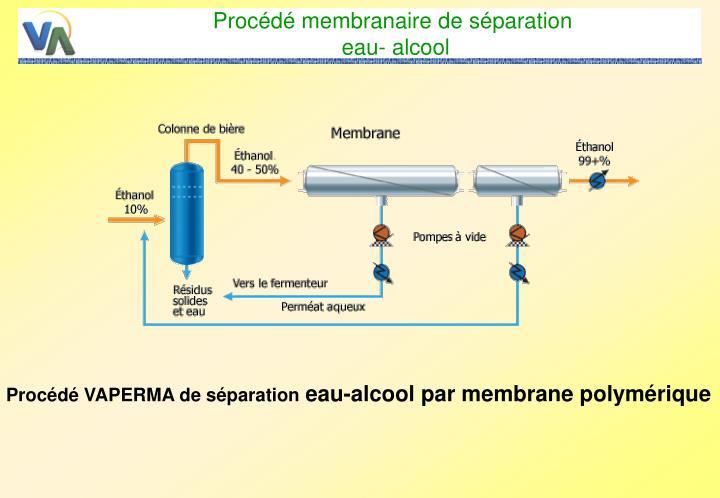 Procédé membranaire de séparation