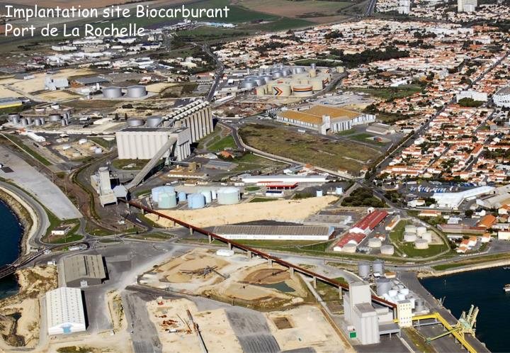 Implantation site Biocarburant
