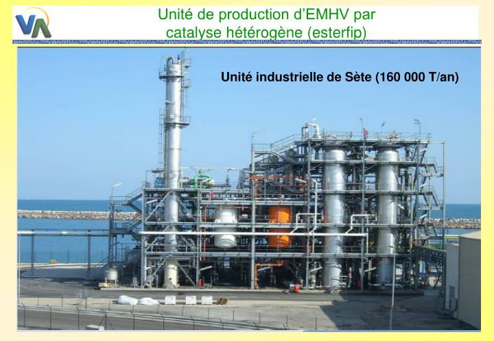 Unité de production d'EMHV par