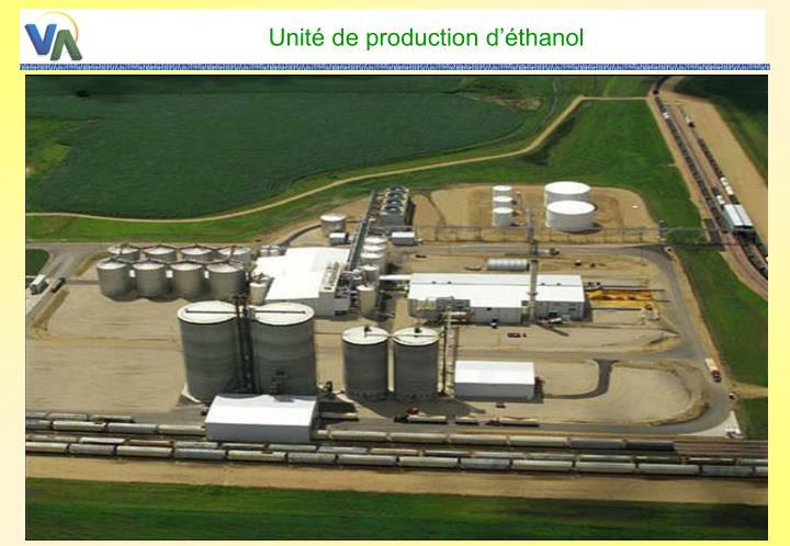 Unité de production d'éthanol