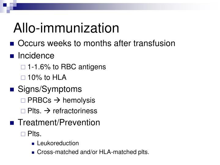 Allo-immunization