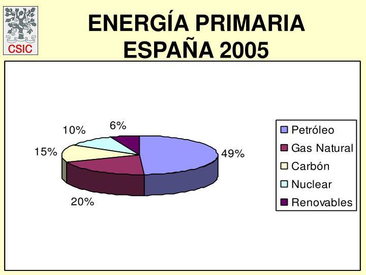 ENERGÍA PRIMARIA ESPAÑA 2005